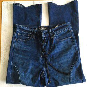 Lucky Brand Lace up Bridgitte Crop Flare Jean 4/27